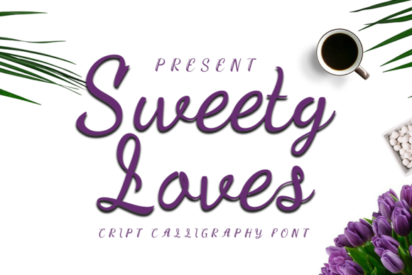 Print on Demand: Sweety Loves Script & Handwritten Font By K_IN Studio
