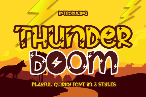 Print on Demand: Thunder Boom Script & Handwritten Font By airotype