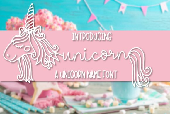 Print on Demand: Unicorn Display Font By Justina Tracy