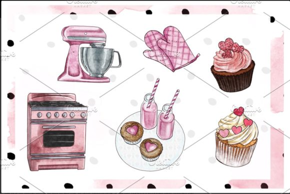 Print on Demand: Watercolor Valentine Clipart Set Graphic Illustrations By TheGGShop - Image 2