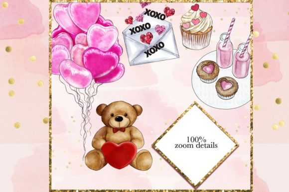 Print on Demand: Watercolor Valentine Clipart Set Graphic Illustrations By TheGGShop - Image 7