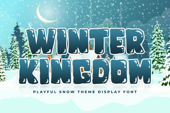 Print on Demand: Winter Kingdom Display Font By creakokunstudio