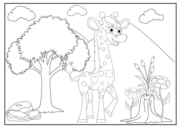 - Cute Animal Coloring Pages For Kids (Graphic) By Curutdesign · Creative  Fabrica