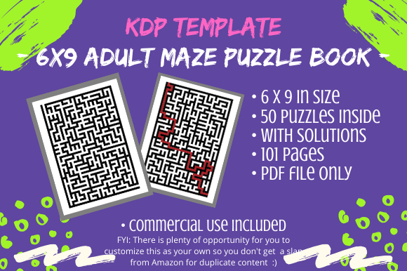 Print on Demand: KDP - Maze Puzzle Book for Adults Graphic KDP Interiors By Tomboy Designs