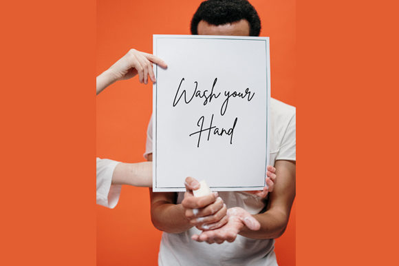 Download Free Man And Girl Hand Holding Board Mockup Graphic By Knou Creative Fabrica for Cricut Explore, Silhouette and other cutting machines.