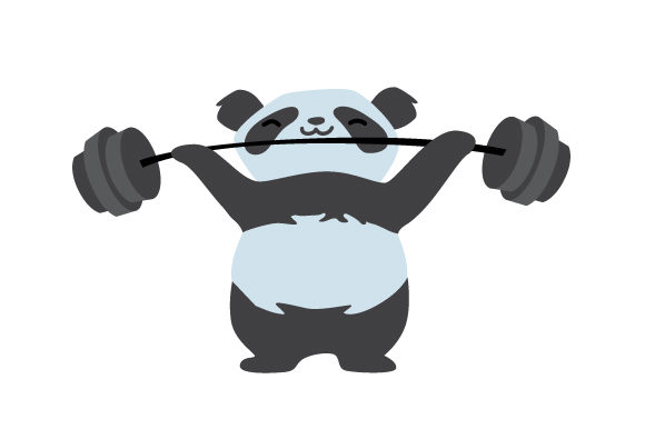 Panda Lifting Weights Animales Archivo de Corte Craft Por Creative Fabrica Crafts