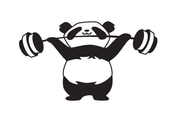 Panda Lifting Weights Animals Craft Cut File By Creative Fabrica Crafts - Image 2
