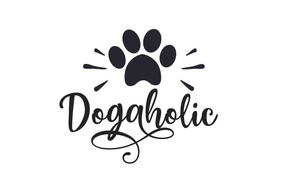 Dogaholic Perros Archivo de Corte Craft Por Creative Fabrica Crafts