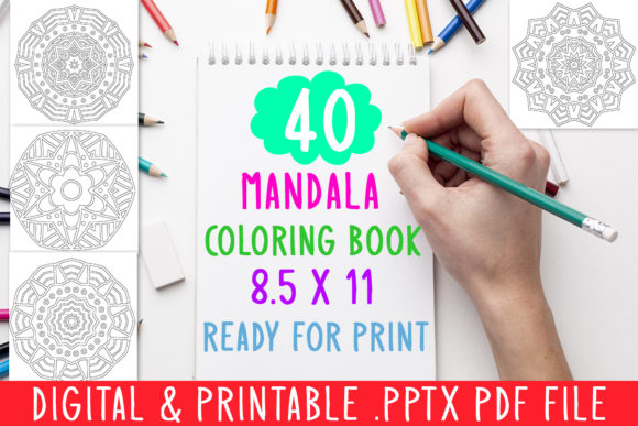 Print on Demand: 40 Mandala Coloring Book for Kids Graphic Coloring Pages & Books Kids By DesignsBundles