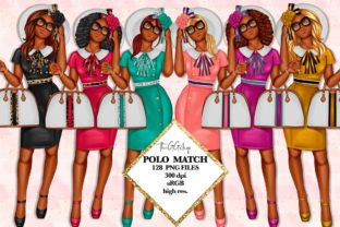 Print on Demand: African American Fashion Girl Clipart Graphic Illustrations By TheGGShop