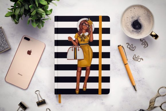 Print on Demand: African American Fashion Girl Clipart Graphic Illustrations By TheGGShop - Image 8