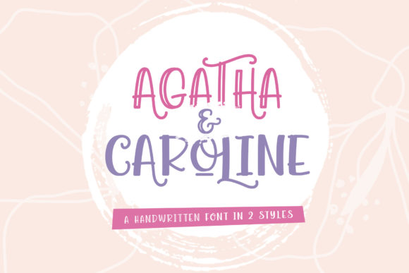 Print on Demand: Agatha Caroline Script & Handwritten Font By Wandani Creative