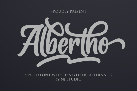 Print on Demand: Albertho Script & Handwritten Font By NJStudio