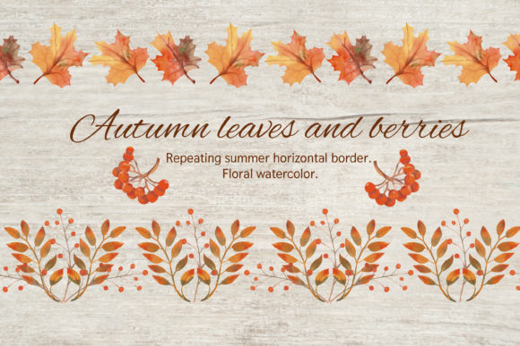 Print on Demand: Autumn Leaves - the Horizontal Border. Graphic Patterns By Natika_art