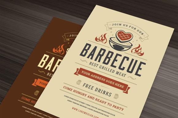 Barbecue Party Flyer Template Graphic Print Templates By vasyako1984