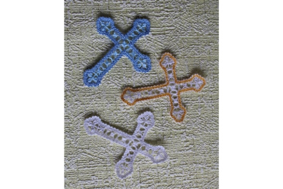 Christian Cross Lace Embroidery Download