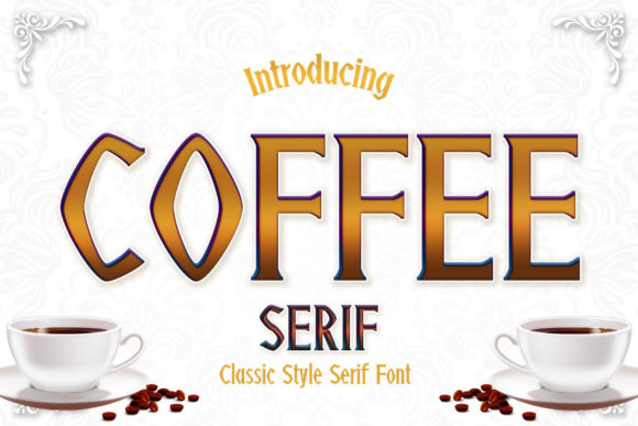 Print on Demand: Coffee Serif Font By numnim