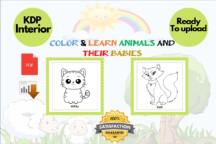 Print on Demand: Color & Learn Animals and Their Babies Graphic KDP Interiors By Proobeyda