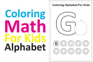 Print on Demand: Coloring Math for Kids Alphabet G Graphic K By studioisamu