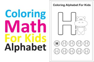 Print on Demand: Coloring Math for Kids Alphabet H Graphic K By studioisamu