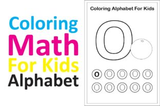 Print on Demand: Coloring Math for Kids Alphabet O Graphic K By studioisamu