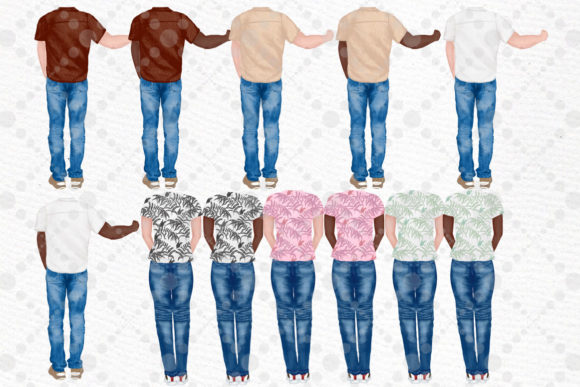 Couples Clipart Custom People Rear Graphic Illustrations By LeCoqDesign - Image 3