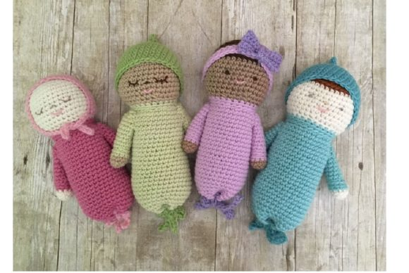 Crochet Baby Doll Patterns Graphic Crochet Patterns By Amy Gaines Amigurumi Patterns - Image 1