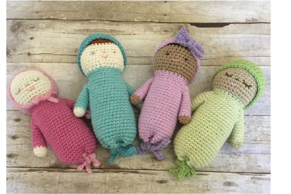 Crochet Baby Doll Patterns Graphic Crochet Patterns By Amy Gaines Amigurumi Patterns - Image 3