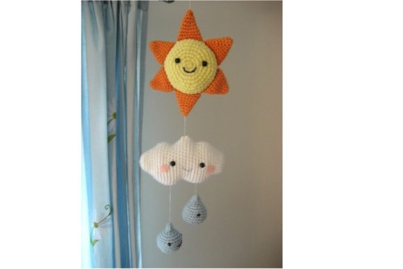 Crochet Happy Weather Mobile Pattern Graphic Crochet Patterns By Amy Gaines Amigurumi Patterns