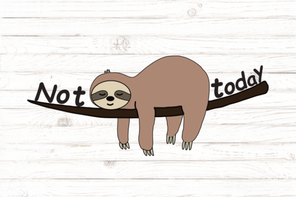 Print on Demand: Cute Sloth, Sloth Mode, Not Today Graphic Icons By rayan