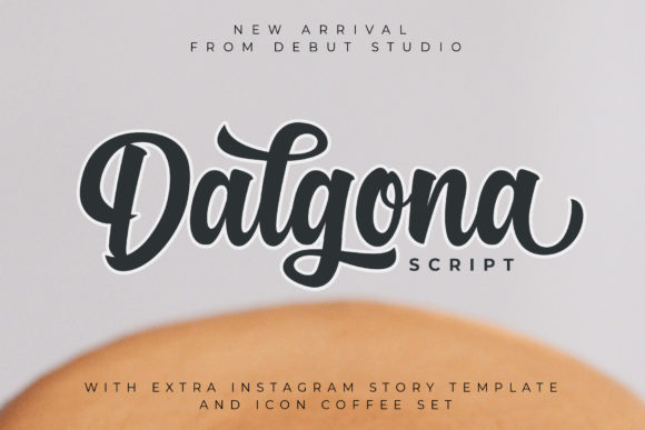 Print on Demand: Dalgona Script & Handwritten Font By Debut Studio