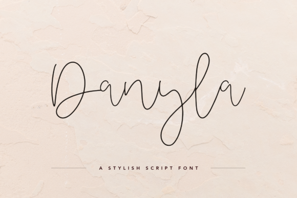 Print on Demand: Danyla Script & Handwritten Font By peterdraw