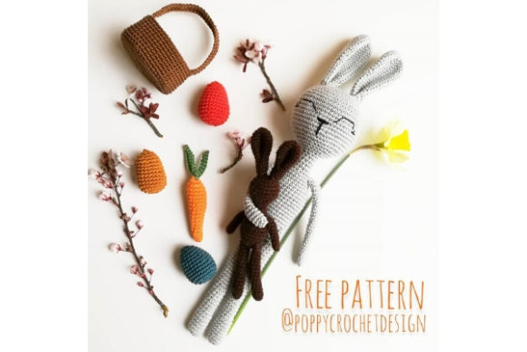 Easter Bunny with Accessorises Crochet Pattern Graphic Crochet Patterns By Needle Craft Patterns Freebies
