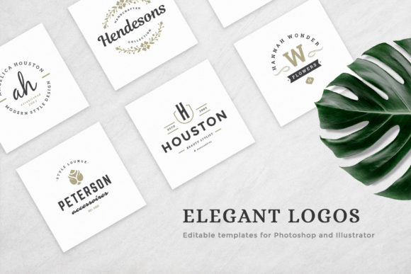 Elegant Logos Bundle Graphic