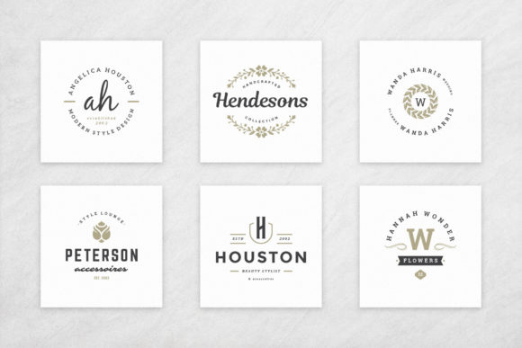 Elegant Logos Bundle Graphic Download