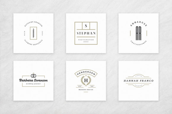 Elegant Logos Bundle Graphic Item