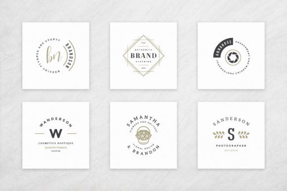Elegant Logos Bundle Graphic Design