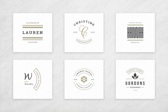 Elegant Logos Bundle Graphic Image