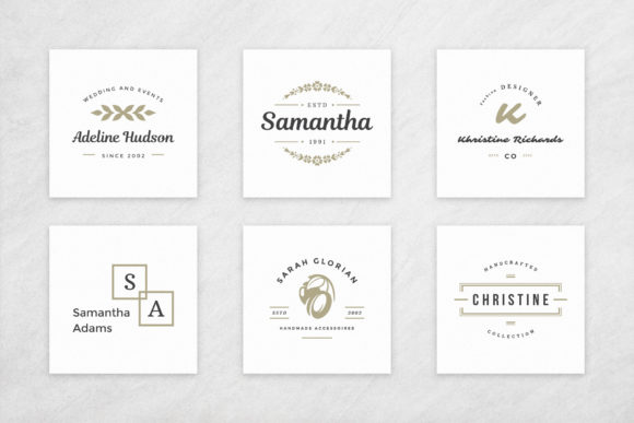 Elegant Logos Bundle Graphic Design Item