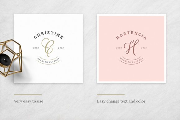 Elegant Logos Bundle Graphic Downloadable Digital File
