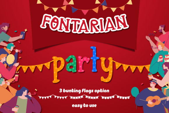 Print on Demand: Fontarian Party Display Schriftarten von Orenari