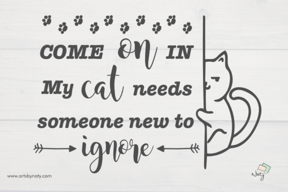 Print on Demand: Funny Cat Quote Illustration Graphic Illustrations By artsbynaty