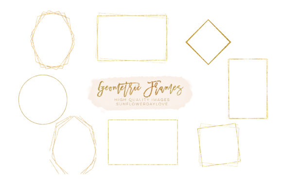 Print on Demand: Geometric Frames Geometric Clipart Graphic Illustrations By SunflowerLove