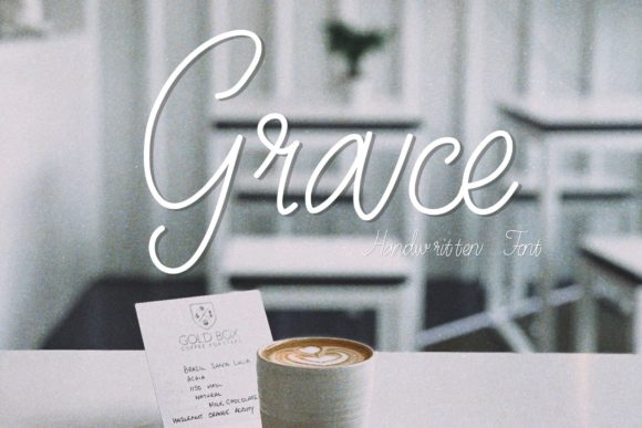 Download Free Grace Font By Chunnapastudio Creative Fabrica for Cricut Explore, Silhouette and other cutting machines.