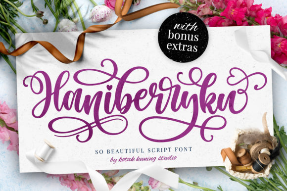 Print on Demand: Haniberryku Script & Handwritten Font By Kotak Kuning Studio