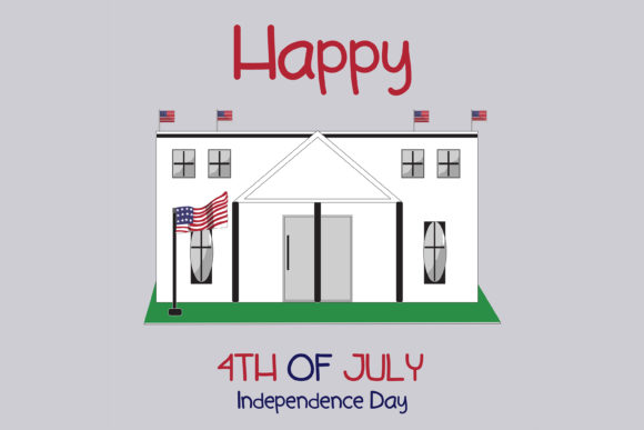 Print on Demand: Happy Independence Day Flat Illustration Graphic Illustrations By purplebubble