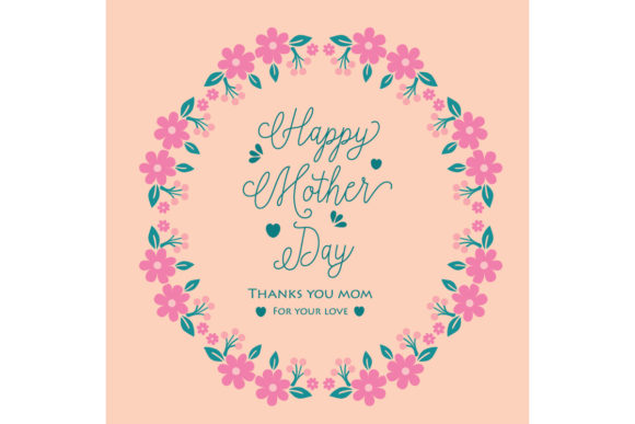 Happy Mother Day Greeting Card Design Graphic Backgrounds By stockfloral