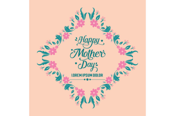 Happy Mother Day Invitation Card Design Graphic Backgrounds By stockfloral
