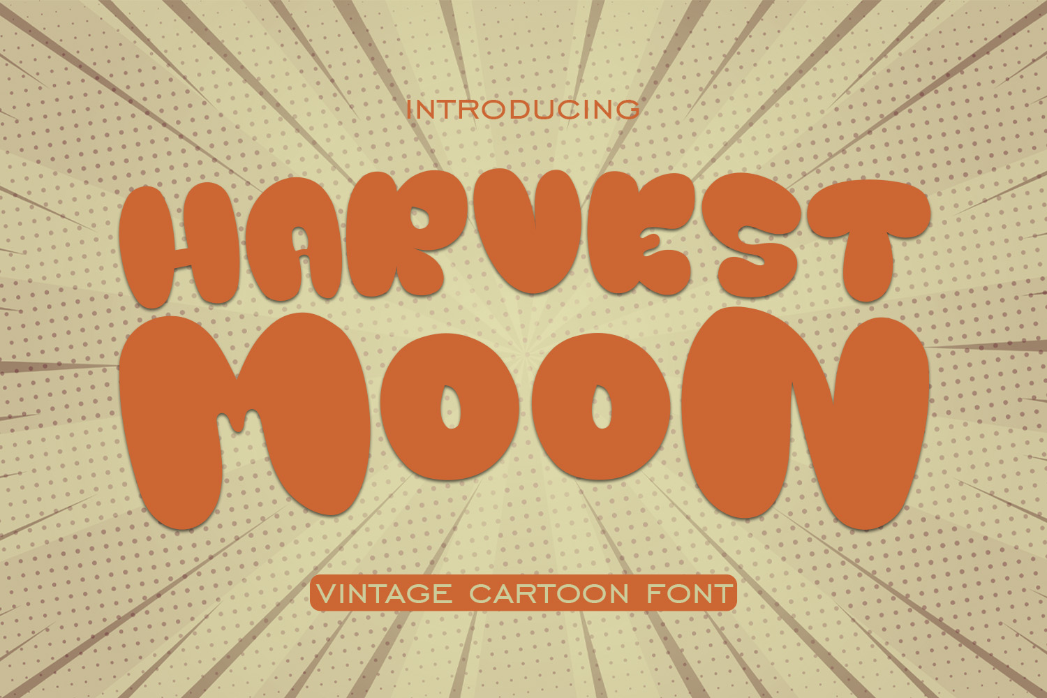 Harvest Moon Font By Jujungag Creative Fabrica