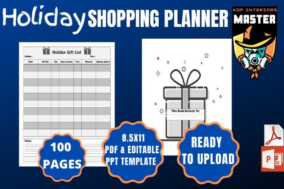 Print on Demand: Holiday Shopping Planner [KDP Interiors] Graphic KDP Interiors By KDP_Interiors_Master